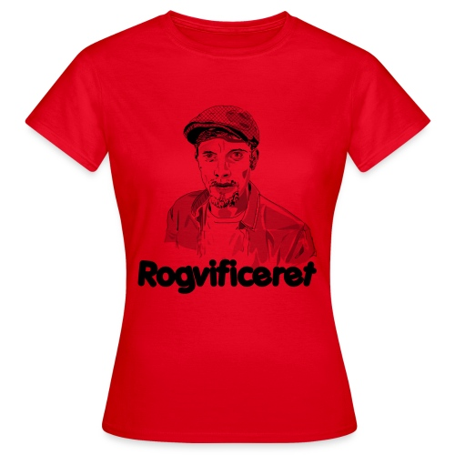 Rogvificeret merch - Sort tekst. - Dame-T-shirt