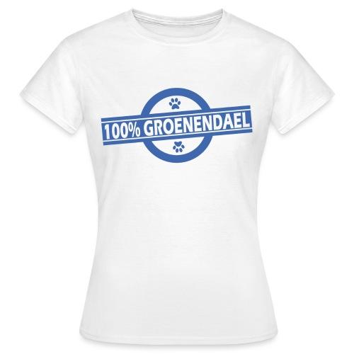 100 gro bleu - T-shirt Femme