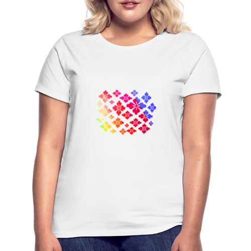 Flower Power Regenbogen Blumen - Frauen T-Shirt