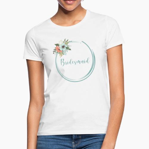 Bridesmaid - floral motif in blue - Women's T-Shirt