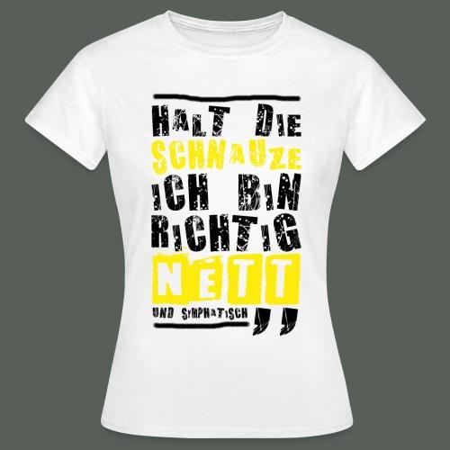 Herren T-Shirt - Richtig nett - weiss - Frauen T-Shirt