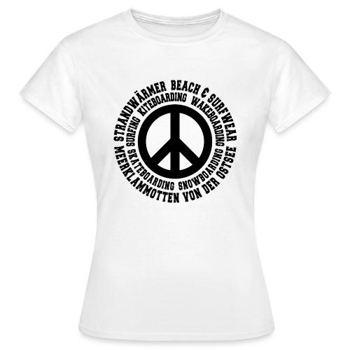 StrandWärmer_Kreis_Peace_schwarz - Frauen T-Shirt