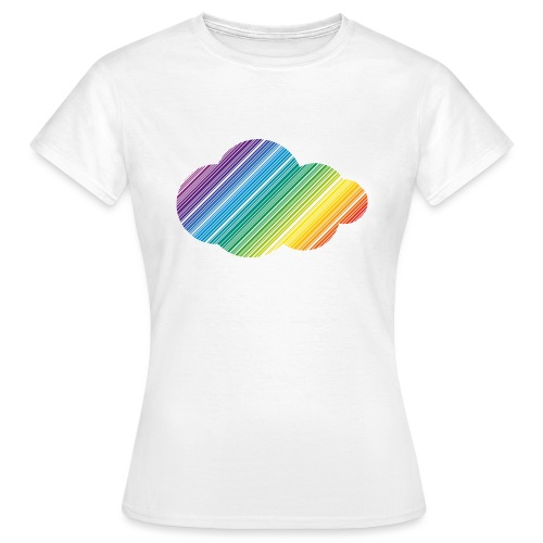 Regnbågsmoln - T-shirt dam