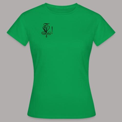Zirkel, schwarz (vorne) - Frauen T-Shirt
