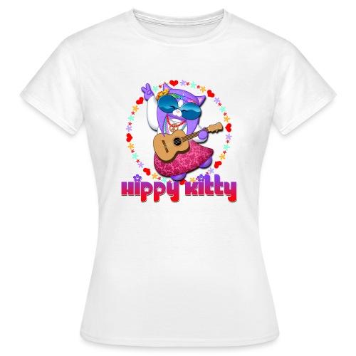 Hippy Kitty - Maglietta da donna