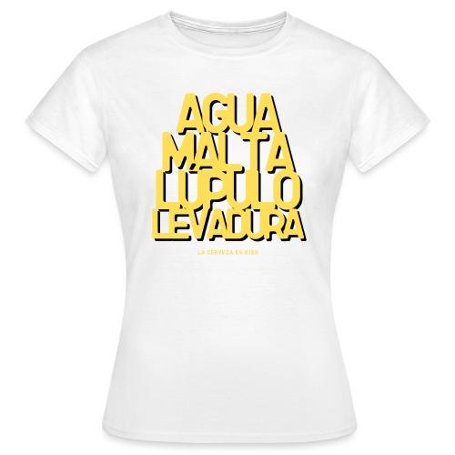 Cerveza Ingredientes Naturales - Camiseta mujer