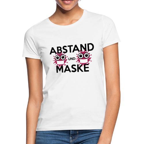 Mit Abstand und Maske gegen CORONA Virus - schwarz - Frauen T-Shirt