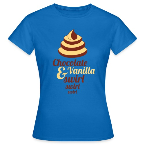 Chocolate and Vanilla Swirl - Women's T-Shirt