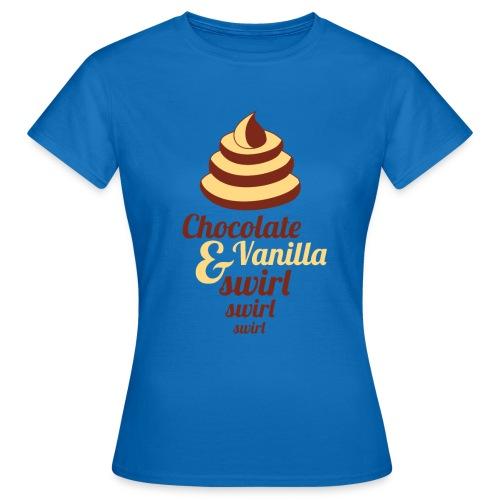 Chocolate and Vanilla Swirl - Women's T-Shirt