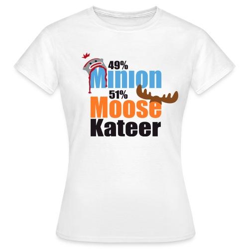 49% Minion 51% MooseKateer - Women's T-Shirt