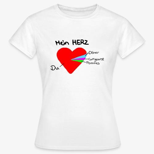 Herz Tortendiagramm 3 - Frauen T-Shirt