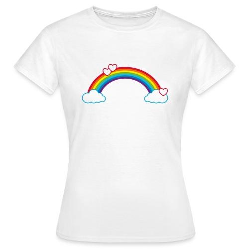 Regenbogen Sonne Herz Rainbow Cloud Heart - Women's T-Shirt