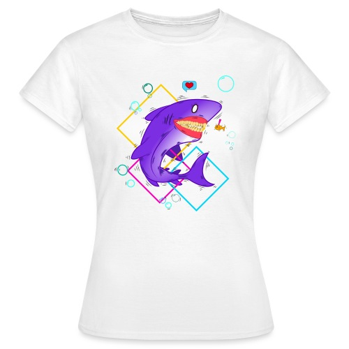 shark and fish - Camiseta mujer