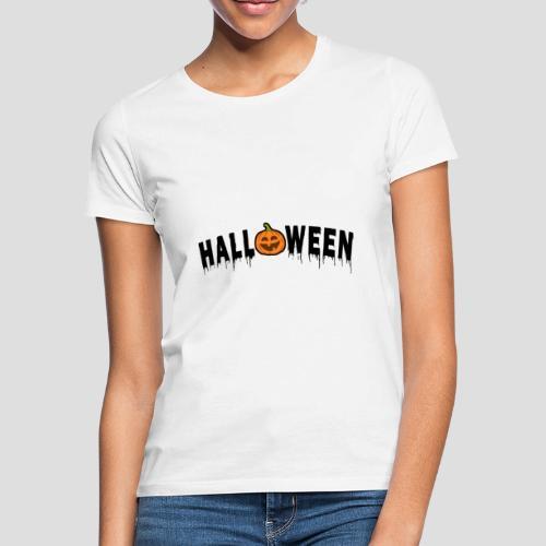 HALLOWEEN - mit Kürbis in Schwarz - Frauen T-Shirt