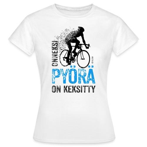 Onneksi pyörä on keksitty - Road bike b - Naisten t-paita