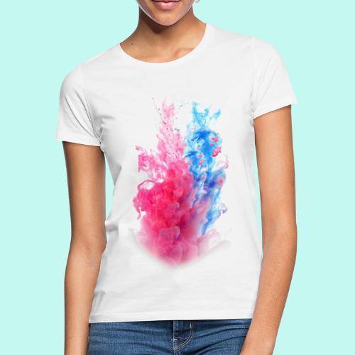 Pink & Blau - Frauen T-Shirt