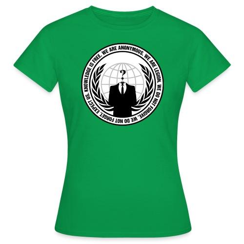 Anonymous Logo With Sloga - Naisten t-paita