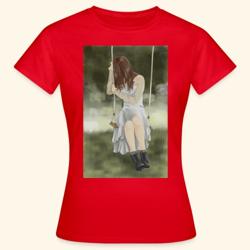 Sad Girl on Swing - Women's T-Shirt