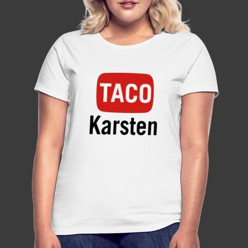 Taco Karsten Youtube Logo - Dame-T-shirt