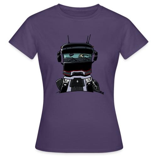 0813 R truck zwart - Vrouwen T-shirt