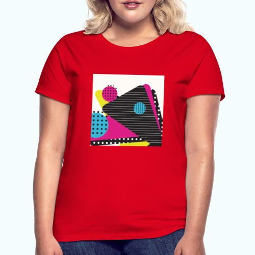 Abstract vintage shapes pink - Women's T-Shirt