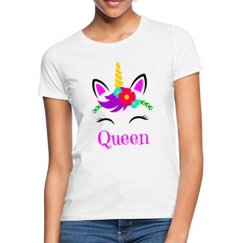 Mutter Tochter Partnerlook Queen Princess Einhorn - Frauen T-Shirt