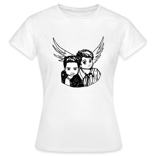 Destiel i sort/hvid - Dame-T-shirt