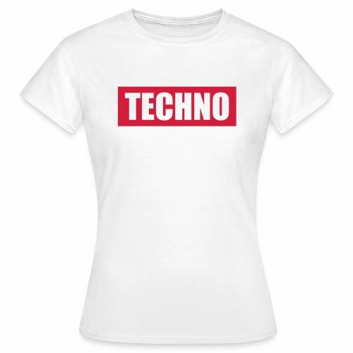 Techno Roter Balken Schriftzug Red Stripes Text - Frauen T-Shirt