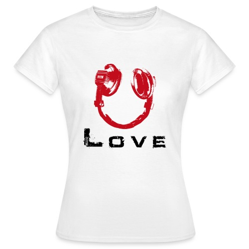 love 835d txt black hp red - Women's T-Shirt