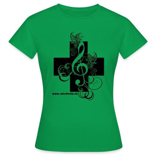 Swiss Beatz Logo non L - Frauen T-Shirt