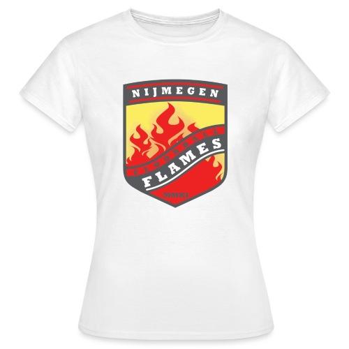 Hoodie Black - Red inner contrast - Vrouwen T-shirt