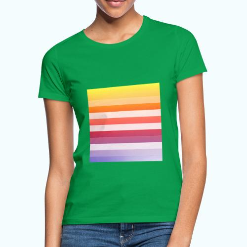 Rainbow Abstract Acrylic Painting - Women's T-Shirt
