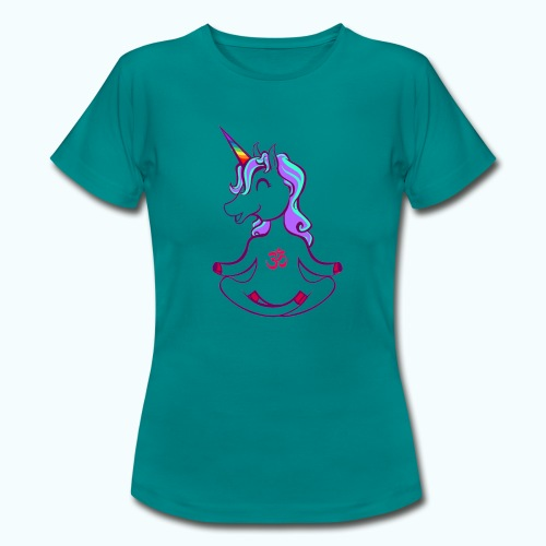 Unicorn meditation - Women's T-Shirt