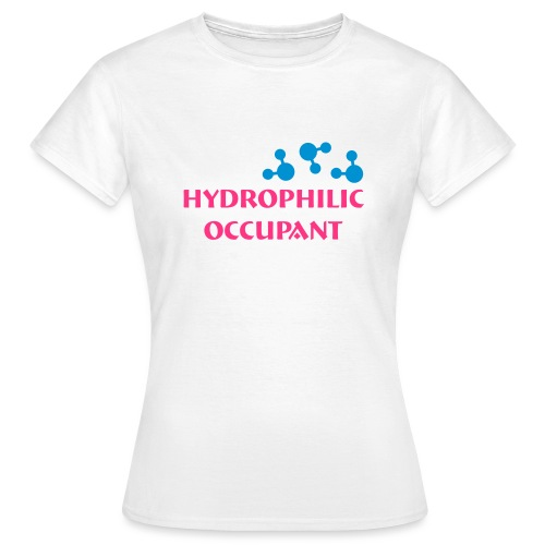 Hydrophilic Occupant (2 colour vector graphic) - Women's T-Shirt