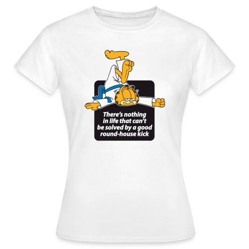 Garfield Round House Kick - Frauen T-Shirt