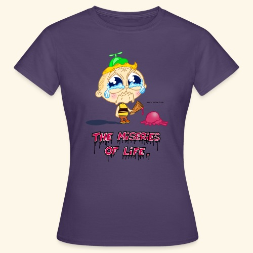 The Miseries of Life Eiscreme Eis Kind - Frauen T-Shirt