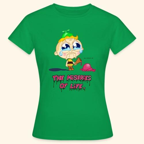 The Miseries of Life Eiscreme Eis Kind - Frauen T-Shirt