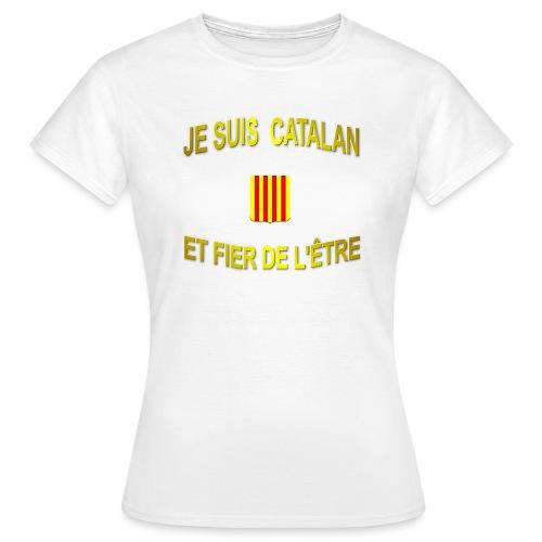 Tee-Shirt supporter du pays CATALAN - T-shirt Femme