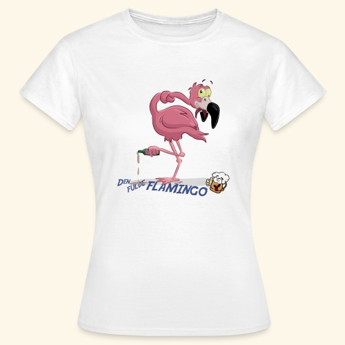 Den fulde flamingo - Dame-T-shirt
