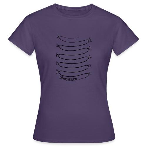 Wiener Illusion (schwarz auf weiß) - Frauen T-Shirt
