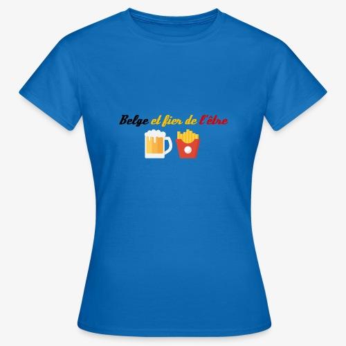 Belge et fier de l'être - T-shirt Femme
