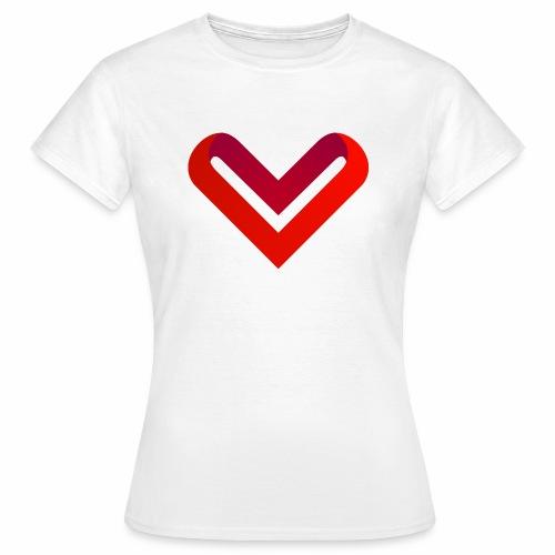 Coeur de V - T-shirt Femme