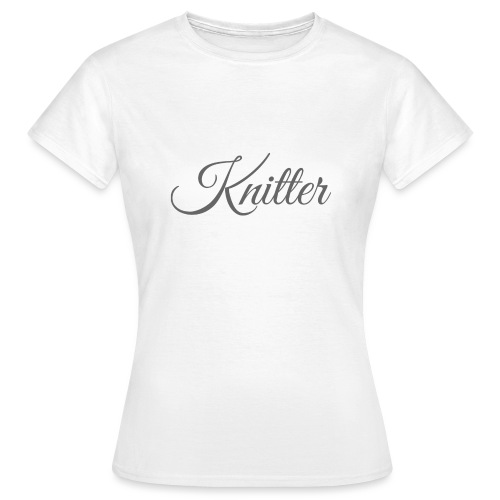Knitter, dark gray - Women's T-Shirt