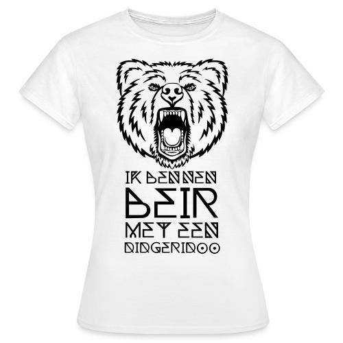 Beir met didgeridoo - Vrouwen T-shirt