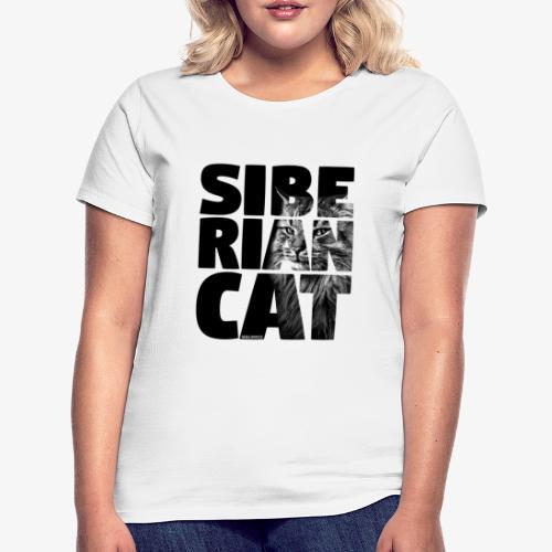 Siberian Cat Black - Naisten t-paita