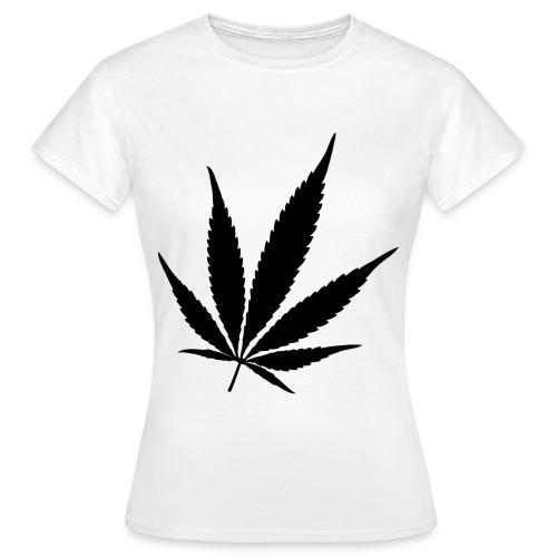 Weed black - Vrouwen T-shirt