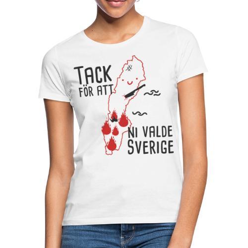 Tack för att ni valde Sverige - T-shirt dam