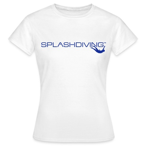 splashdiving cilogo blau - Frauen T-Shirt
