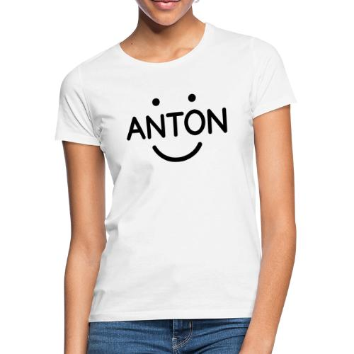 ANTON Smile-Logo schwarz auf weiß - Frauen T-Shirt