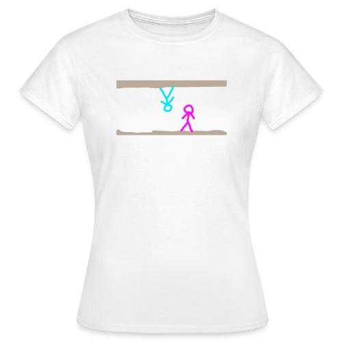 livet kan vende på hoved - Dame-T-shirt